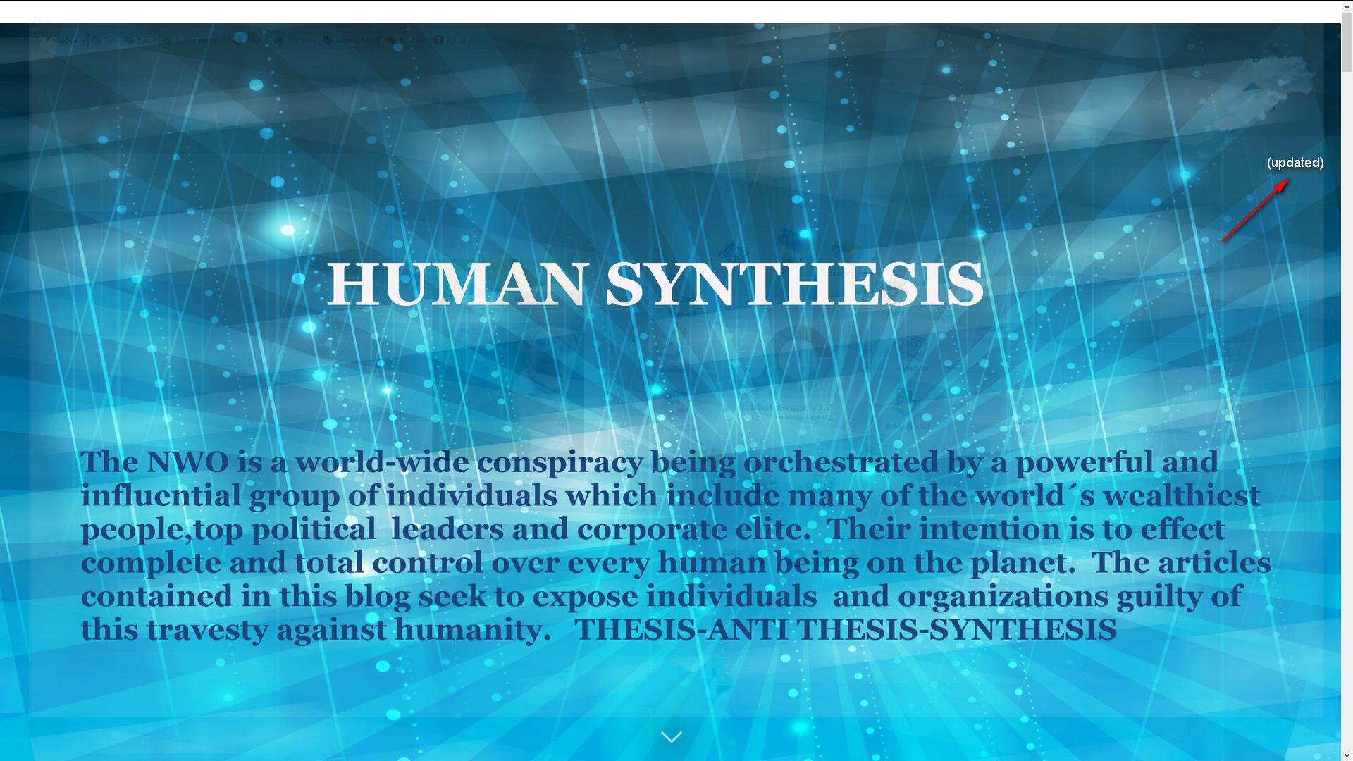thesis anti-thesis synthesis
