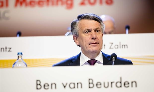 Ben van Beurden, the CEO of Royal Dutch Shell