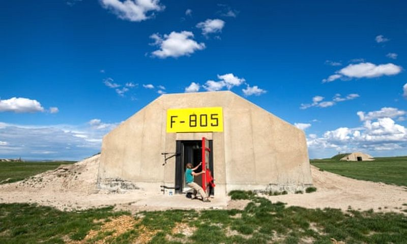 Closing the door: one of Vivos' former army munitions bunkers, in South Dakota, US, repurposed for a 'doomsday community'.