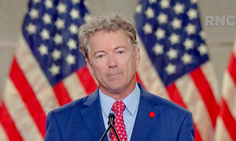 Sen. Rand Paul (R-Ky.) speaks on Capitol Hill in Washington on Sept. 24, 2020. (Joshua Roberts/Pool/Getty Images)